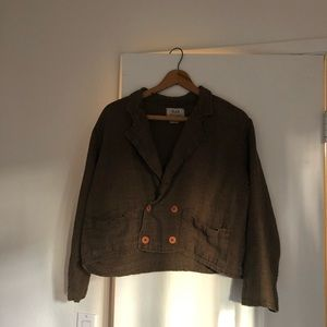Flax Brown Linen Jacket